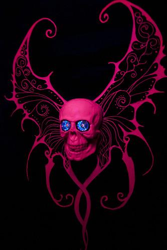 christmas pink england london art skull flying wings exhibition already installation plasma did openingnight mention extremely londonist stpancraschurch cryptmas i illumini definitelypink cryptgallery cryptmasfairy vinayhathi