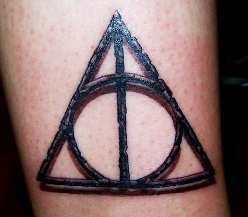 Deathly Hallows Symbol Tattoo A Photo On Flickriver