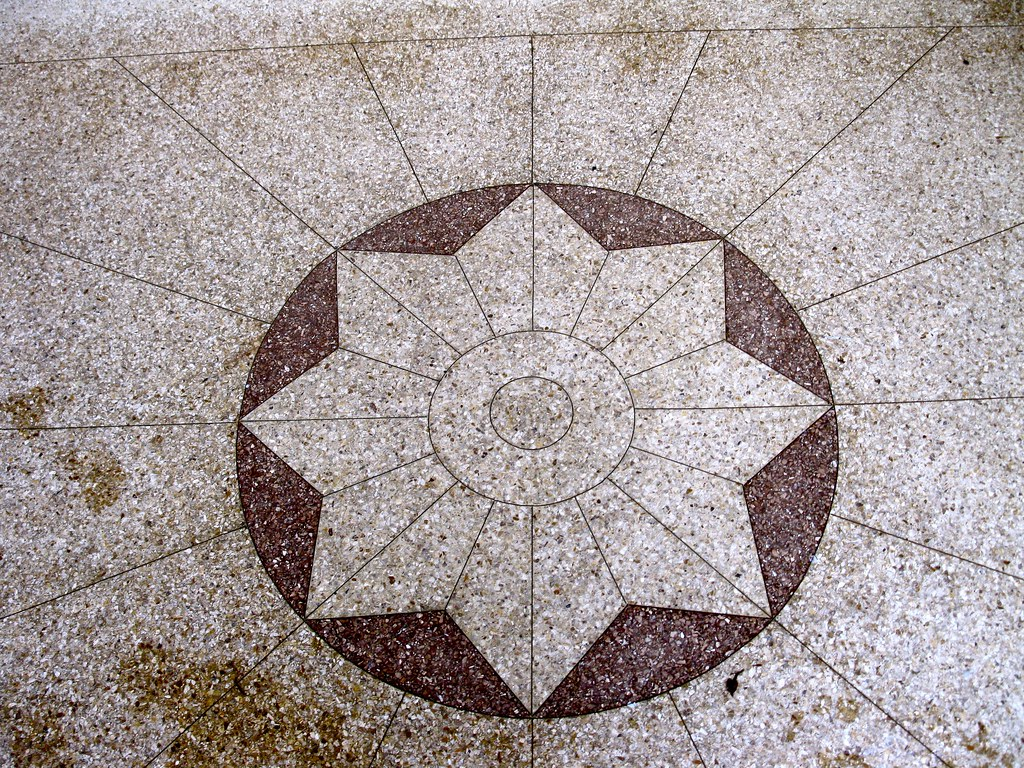 Terrazzo Floor - Buddhist Church of San Francisco - 1881 Pine Street, @ Octavia Street, San Francisco