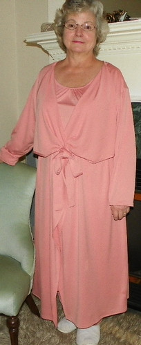Robe tied in front & Nightgown