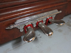 Berlin Piano - pedals re-chromed closeup (Ponyta!) Tags: music ontario berlin montral antique montreal victorian piano kitchener beethoven restored classical upright mozart musique vivaldi droit classique victorien restaur