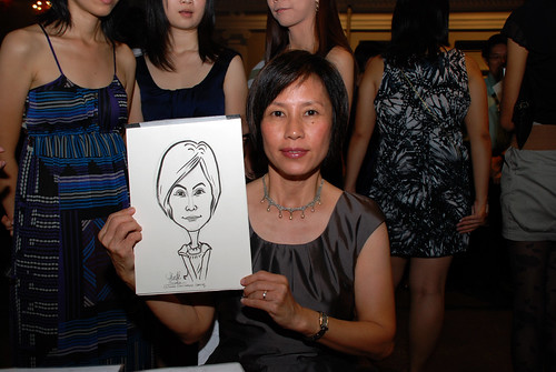 Caricature live sketching for Autism Association(Singapore)- Staff Dinner 2010 - 10