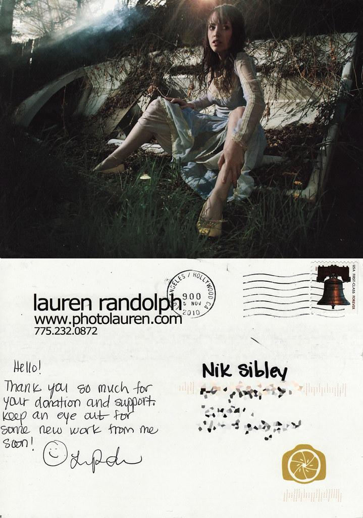 Lauren Randolph - Postard