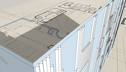 St. Bride's SketchUp - detailing on north wall