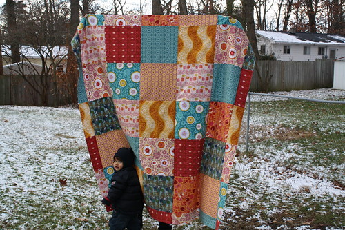 Folky Flannel Quilt Top
