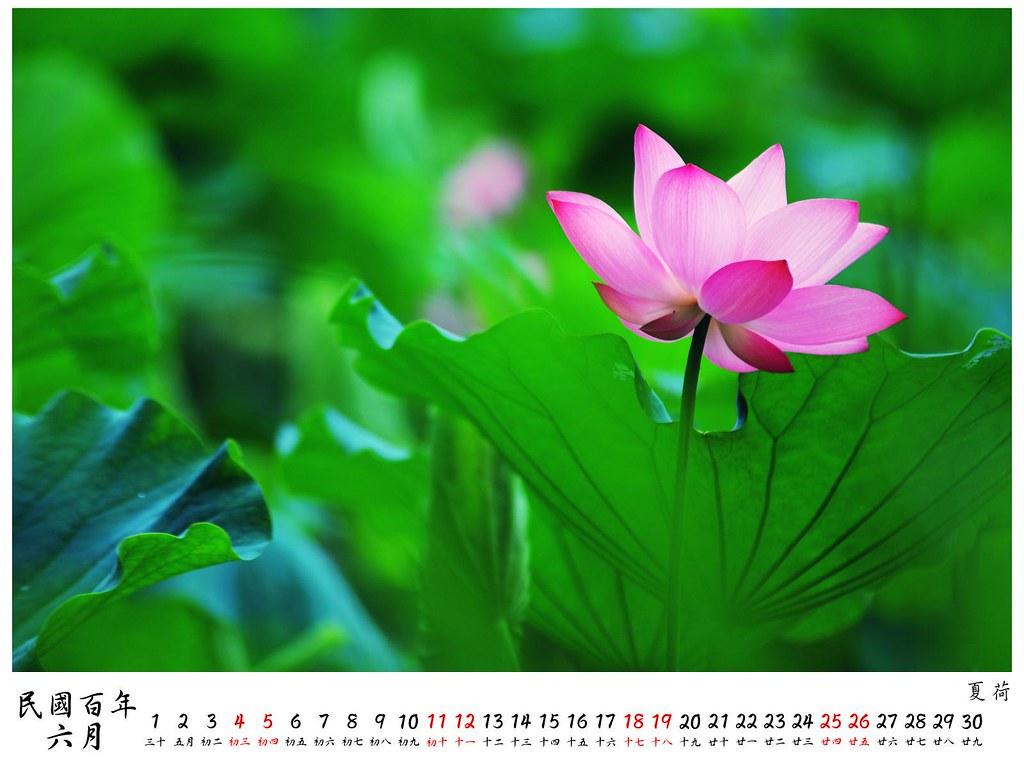 2011 桌曆4 6月