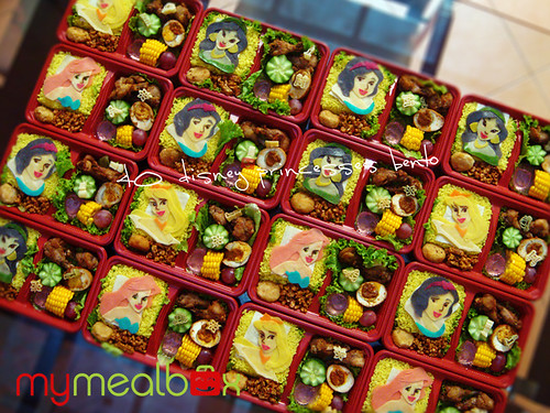 40 Disney Princesses bento
