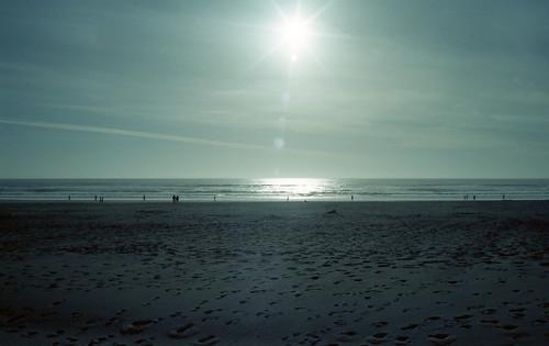 Ocean Beach in Cyan