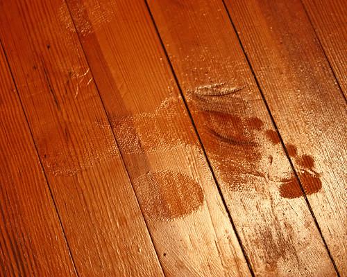 Footprint in the sewing room