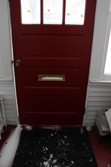 our front door usually keeps the elements out (massdistraction) Tags: winter snow minnesota midwest snowstorm stpaul athome twincities saintpaul blizzard mn mothernature snowedin theelements snowemergency snowmageddon snow12112010