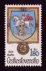 Arms of Martin, 1854 (oliver.tomas) Tags: art print typography graphicdesign saintmartin heraldry czech ephemera 1970s 1979 czechoslovakia slovak postagestamps ceskoslovensko josefherčík