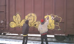 Hazer and Deucer SNF BSK (ShowNoFearKrue) Tags: up de graffiti bend south ha tagging throw fills 574 hazer deucer