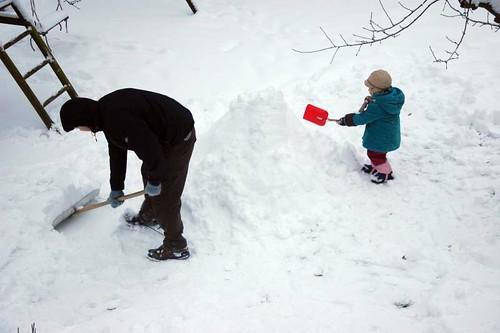schaufel mit mir schnee