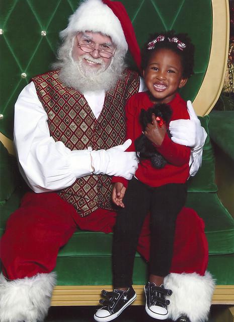 Santa and Eliza 2010