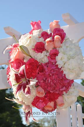 Ceremony Flowers on Arbor
