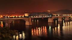 Market Street Bridge,at night (rpennington9) Tags: longexposure chattanooga night reflections nikon nightlights nightshot tennessee bridges northshore tennesseeriver coolidgepark marketstreetbridge tripodshot chattanoogatennessee nikond90 sceniccity chattanooganorthshore mtrtrophyshot ringexcellence
