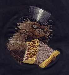 porcupine (f. bearclaw) Tags: hat folkart embroidery top accordion beaver groundhog hedgehog muskrat fauxvintage largerodent fillstitch