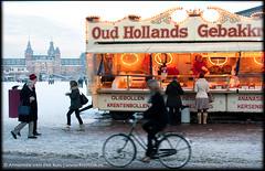 Oud Hollands Gebakk (PhotoA.nl) Tags: street winter orange white snow cold amsterdam bicycle season museumplein sweet bakery rijksmuseum oliebollen oudhollands gebakkraam wwwphotoanl