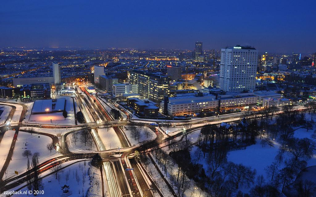 Rotterdam - Euromast - Sneeuw / Snow - Erasmus MC