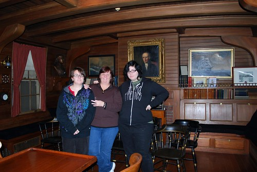 Jamie, Amanda, & I in the Salem Mariner Society's Room