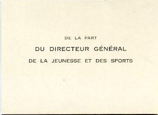 DIRECTEUR GENERAL de la Jeunesse et des Sports