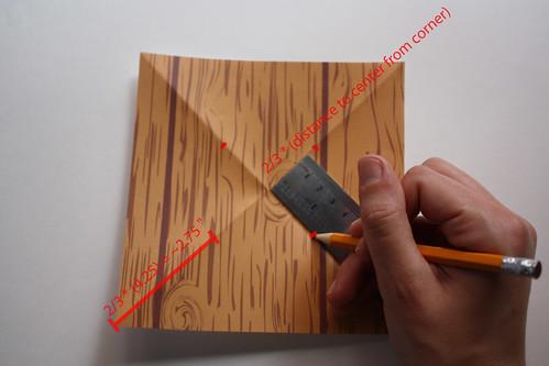 Step 4: Mark 2/3 Towards the Center