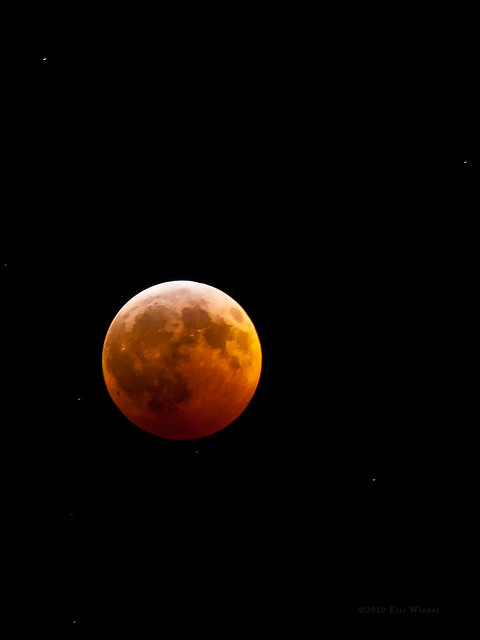 Lunar Eclipse with Stars