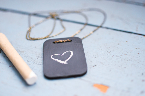 Mini blackboard necklace by Killside Krafts