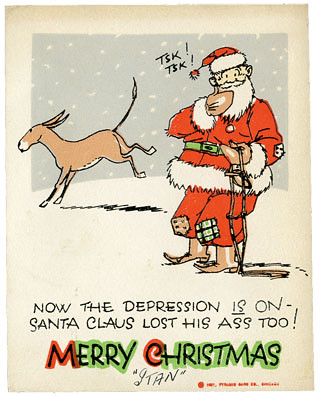 Santa card_tatteredandlost