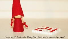 Merry Christmas & Happy New Year (mazarin) Tags: christmas red white bokeh 24 merrychristmas happynewyear