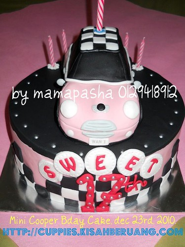 mini cooper fully cover fondant
