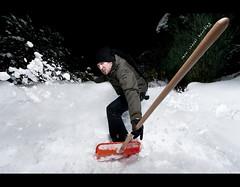 Day 143 - snow shovel boarding (Daniel | rapturedmind.com) Tags: selfportrait snow snowboarding action wideangle surfing plastic boarding actionshot snowshovel day143 project365 365days strobist canonefs1022 143365 365tage ourdailychallenge pocketwizardplusiitransceivers snowshovelboarding