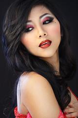 Lust (HuabVajPhotos) Tags: red sexy girl asian japanese seven kimono lust hmong sins deadly vang hmoob vaj huab houa