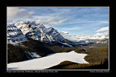 Peyto Lake and Mt. Patterson, Banff National Park, Alberta (kgogrady) Tags: park winter lake snow canada mountains west ice water rock clouds rockies nikon noone ab bluesky nopeople mount national alberta western patterson banff rockymountains banffnationalpark peytolake peyto mtpatterson d700 mountpatterson