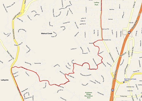 Secret route through Walnut Creek