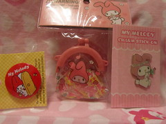 My Melody Pin Charm & Coin Purse w/ Stickers (Suki Melody) Tags: hello pink money rabbit bunny bag coin pin play phone hellokitty character stickers kitty pins charm sanrio collection melody purse kawaii stick accessories charms mymelody