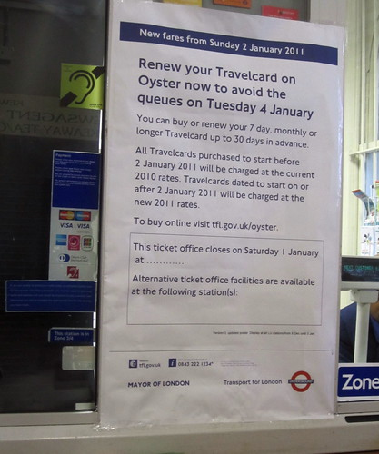 Travelcard increase poster