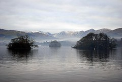 Three Islands (floato) Tags: uk england lake west wet water beautiful landscape islands three countryside scenery britain district north scene cumbria maountain lkae floato