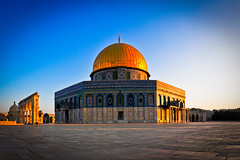 The Dome of the Rock (modenadude) Tags: blue panorama history rock stone architecture religious gold saw amazing ancient heaven palestine muslim jerusalem prayer domeoftherock mosque historic foundation holy dome jew jewish medina judaism isreal hdr mecca masjid muhammad templemount kaba alaqsa spectacle hugin photomatix ascended masgid noblesanctuary