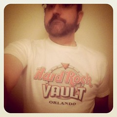 Dave in his Hard Rock Vault Orlando Shirt!