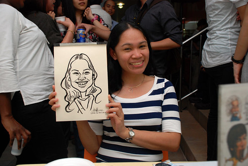 Caricature live sketching for BAT White Christmas Party 2010 - 28