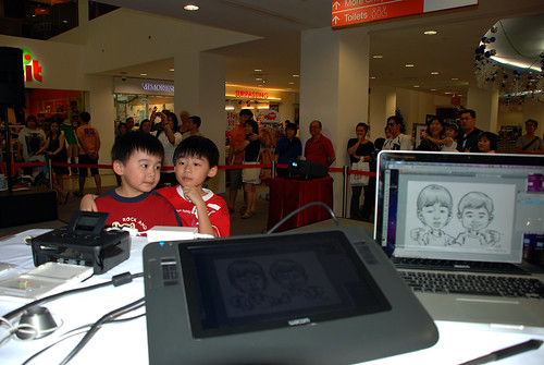 digital caricature live sketching @ Liang Court - day 3 - 6a