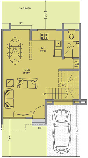Leela Greens Talegaon A Type 2 BHK Row House 830 Carpet