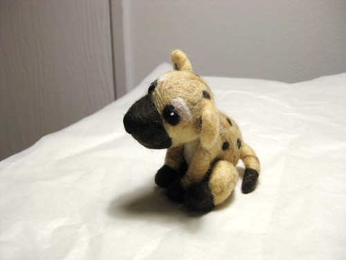Felted hyena