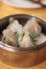 China Pavilion - shrimp and chive dumplings