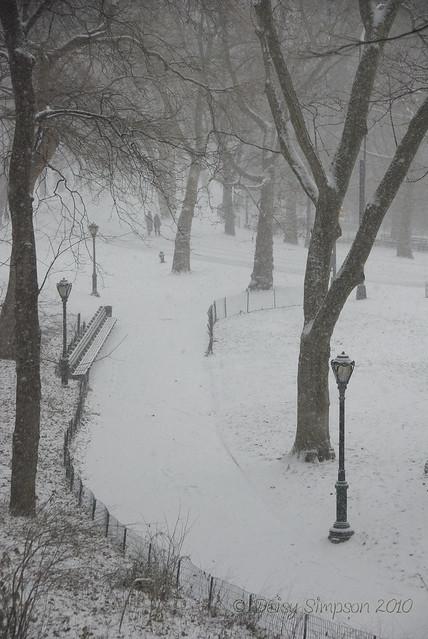 blizzard central park path