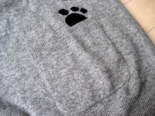 Paw-print sweater from TSUMORI CHISATO