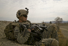 1st Bn., 187th Inf. Regt., patrols Sabari Dist...