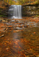 Harrison Wright Falls - Take 3 (VermontDreams) Tags: autumn fall waterfall pennsylvania falls foliage pa waterfalls rickettsglen rickettsglenstatepark luzernecounty harrisonwrightfalls harrisonwright october2010 wnywaterfallers rgsp