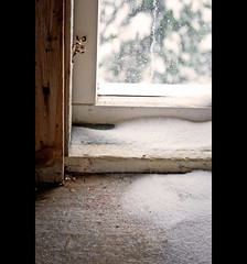a new definition of draught (just.like.that.) Tags: snow church window nikon sweden smland sverige draughty d3100